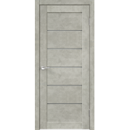 Дверное полотно Master Foil LOFT 1 600х2000 Цвет Бетон светло-серый стекло Мателюкс Графит