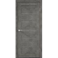 Дверное полотно Master Foil LOFT 1 600х2000 Цвет Бетон темно-серый стекло Мателюкс Графит