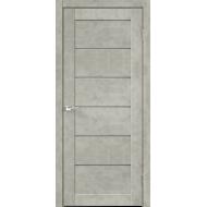 Дверное полотно Master Foil LOFT 1 700х2000 Цвет Бетон светло-серый стекло Мателюкс Графит