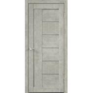 Дверное полотно Master Foil LOFT 3 600х2000 Цвет Бетон светло-серый стекло Мателюкс Графит