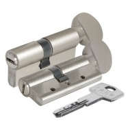 Цилиндровый механизм с вертушкой 164 DBM-E/90 (40+10+40) mm никель 5 кл. БЛИСТЕР