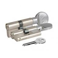 Цилиндровый механизм с вертушкой 164 GM/80 (30+10+40) mm никель 3 кл.