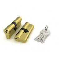 Цилиндровый механизм 100 CA 62 mm (26+10+26) PB латунь 3 кл.