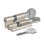 Цилиндровый механизм с вертушкой 164 BM/100 (40+10+50) mm никель 5 кл.