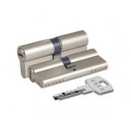 Цилиндровый механизм 164 BN/90 (40+10+40) mm никель 5 кл.