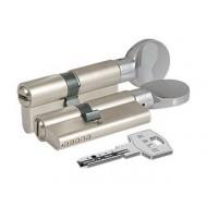 Цилиндровый механизм с вертушкой 164 GM/62 (26+10+26) mm никель 3 кл.