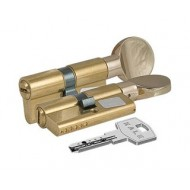 Цилиндровый механизм с вертушкой 164 BM/70 (30+10+30) mm латунь 5 кл.