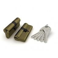 Цилиндровый механизм R300/70 mm (30+10+30) AB бронза 5 кл.