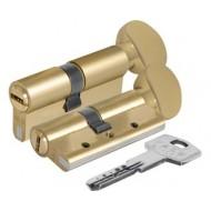 Цилиндровый механизм с вертушкой 164 DBM-E/70 (30+10+30) mm латунь 5 кл.