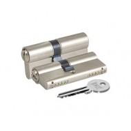 Цилиндровый механизм 164 GN/80 (35+10+35) mm никель 3 кл.