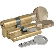Цилиндровый механизм с вертушкой 164 SM/70 (30+10+30) mm латунь 5 кл.