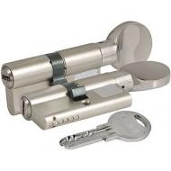 Цилиндровый механизм с вертушкой 164 SM/62 (26+10+26) mm никель 5 кл.